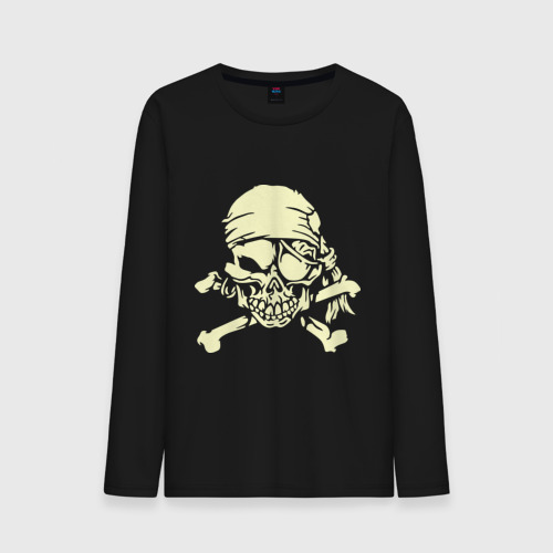 Мужской лонгслив хлопок  Фото 01, Скелет пират