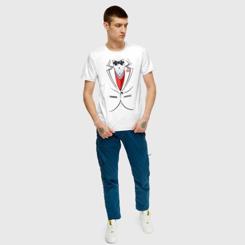 Мужская футболка хлопок Костюм жениха Фото 01