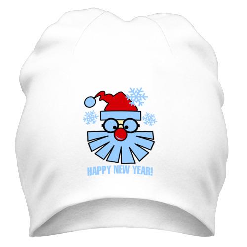 Шапка Санта Клаус и снежинки от Всемайки