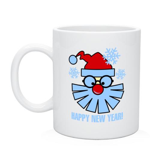 Кружка Санта Клаус и снежинки от Всемайки
