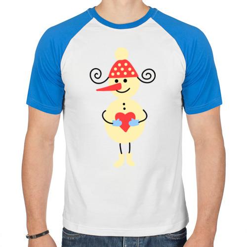 Мужская футболка реглан Снеговик от Всемайки