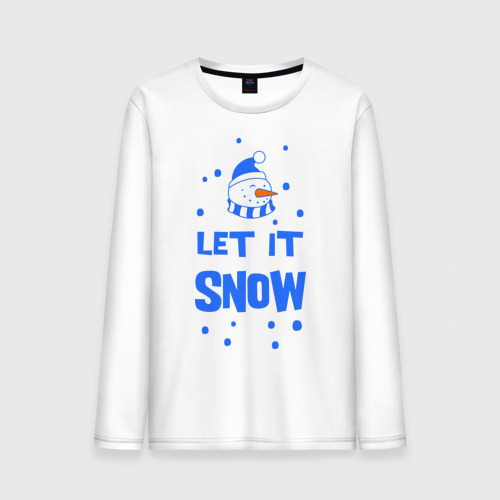 Мужской лонгслив хлопок  Фото 01, Снеговик Let it snow