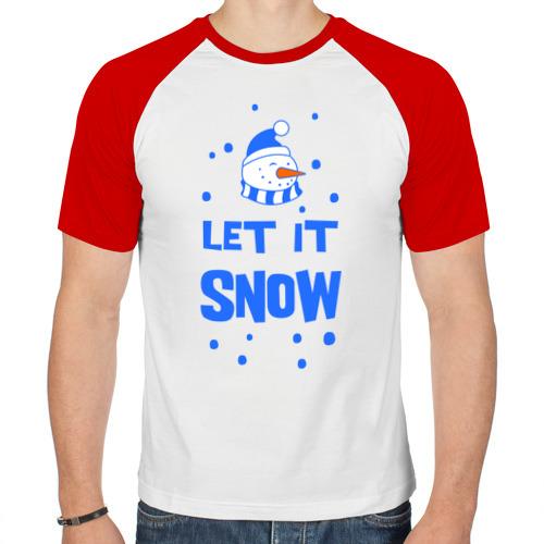Мужская футболка реглан  Фото 01, Снеговик Let it snow