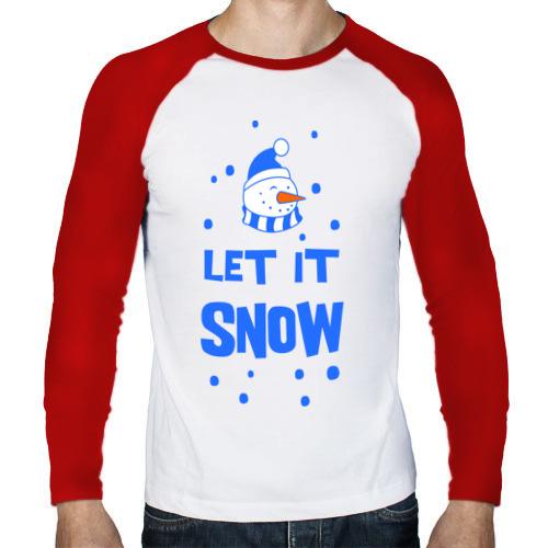 Мужской лонгслив реглан  Фото 01, Снеговик Let it snow