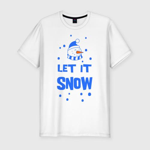 Мужская футболка премиум  Фото 01, Снеговик Let it snow