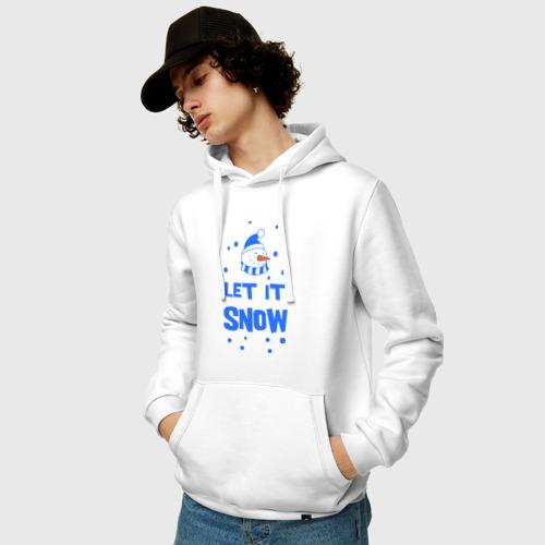 Мужская толстовка хлопок  Фото 03, Снеговик Let it snow