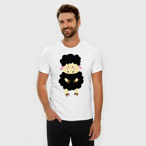 Мужская футболка премиум  Фото 03, Барашек