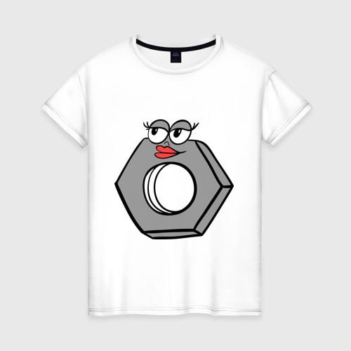 Женская футболка хлопок Гайка Фото 01