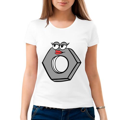 Женская футболка хлопок Гайка