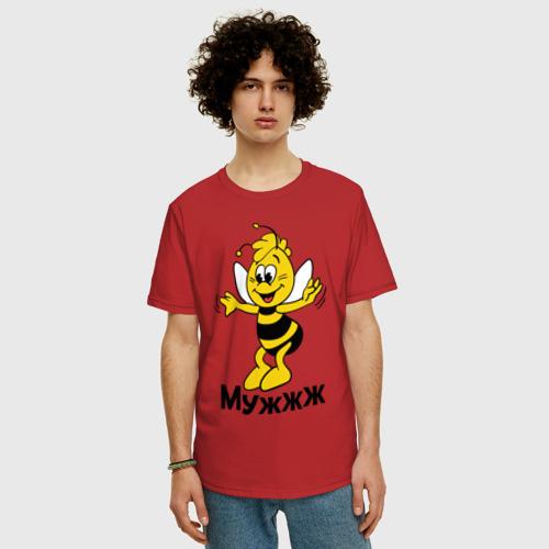 Мужская футболка хлопок Oversize Муж Фото 01