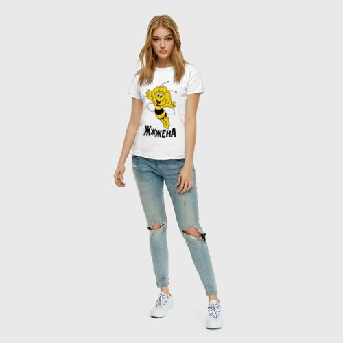 Женская футболка хлопок Жена Фото 01