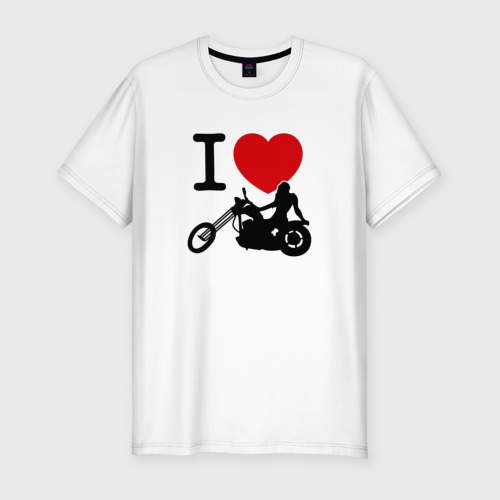 Мужская футболка премиум  Фото 01, Я люблю байк