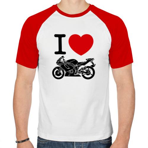 Мужская футболка реглан  Фото 01, Я люблю спортивные мотоциклы