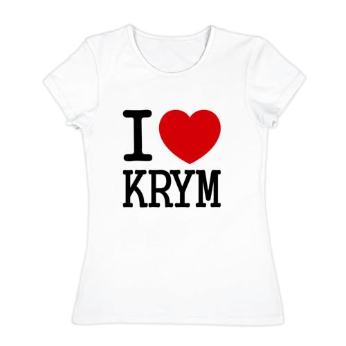 Женская футболка хлопок  Фото 01, Я люблю Крым