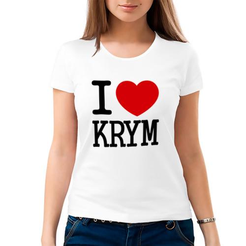 Женская футболка хлопок  Фото 03, Я люблю Крым