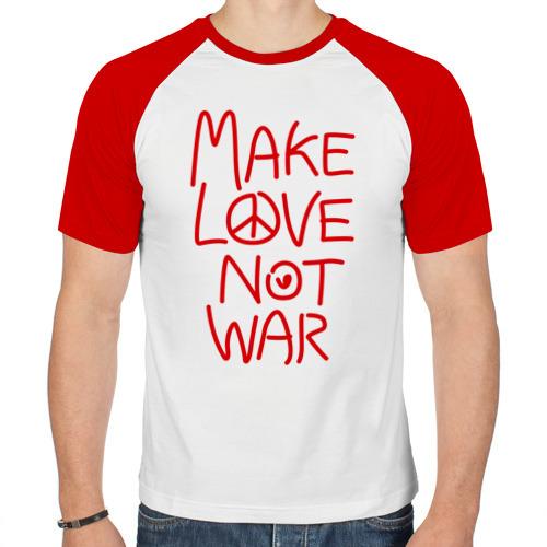 Мужская футболка реглан  Фото 01, Make Love Not War