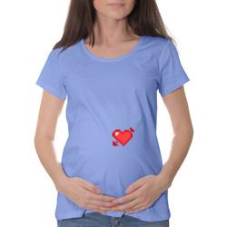 Сердце со стрелой пиксели