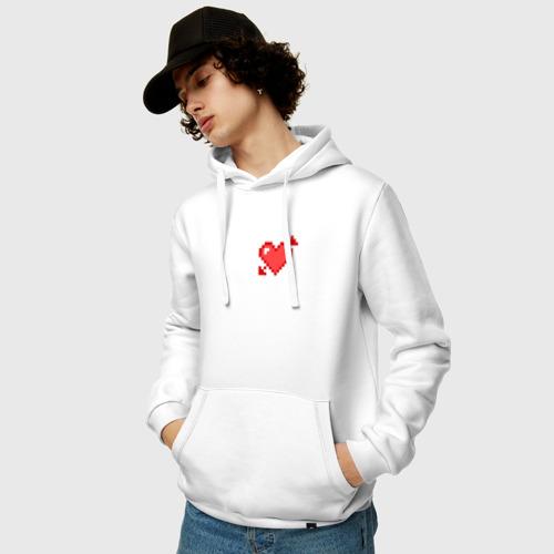 Мужская толстовка хлопок  Фото 03, Сердце со стрелой пиксели