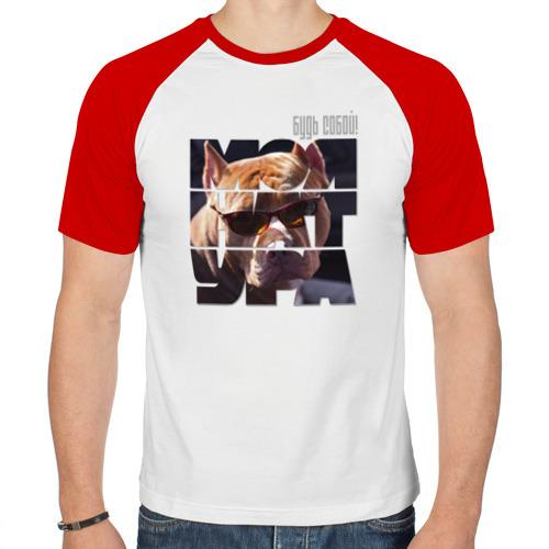 Мужская футболка реглан  Фото 01, Бордоский дог