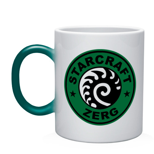 Кружка хамелеон Starcraft Zerg Coffee