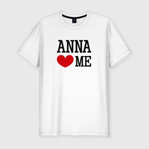 Мужская футболка премиум  Фото 01, Анна любит меня