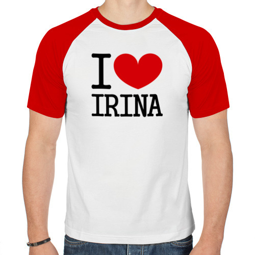 Мужская футболка реглан  Фото 01, Я люблю Ирину.