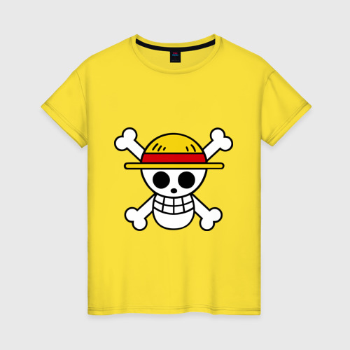 Женская футболка хлопок Флаг Луффи S фото