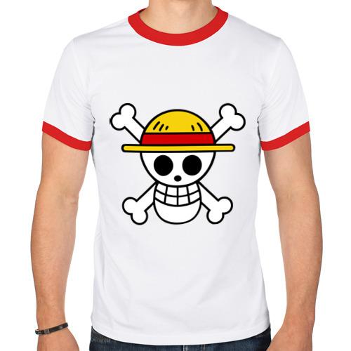 Мужская футболка рингер  Фото 01, Флаг Луффи