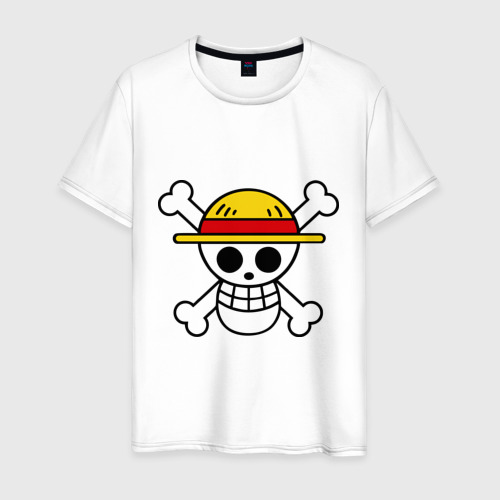Мужская футболка хлопок Флаг Луффи