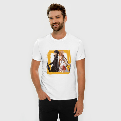 Мужская футболка премиум  Фото 03, Asuna & Kirito