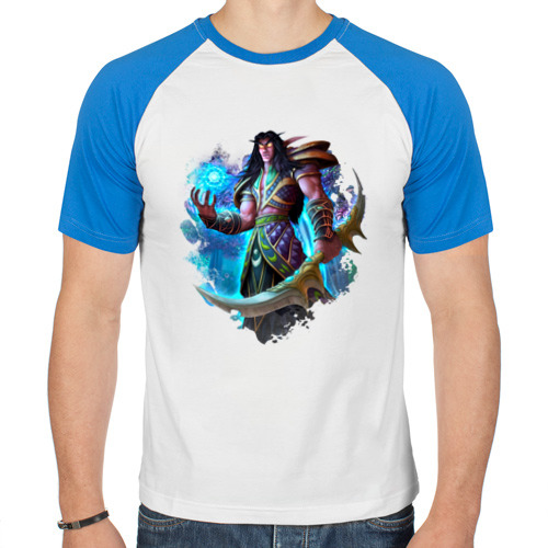 Мужская футболка реглан  Фото 01, Ночной эльф