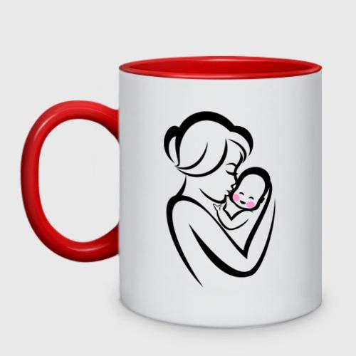 Кружка двухцветная Лучшая мама на свете