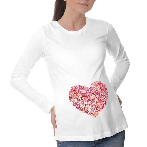 Лонгслив для беременных хлопок  Фото 01, Изумительная роспись на сердце
