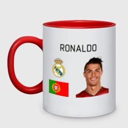 Роналдо, цвет: белый + красный, фото 0