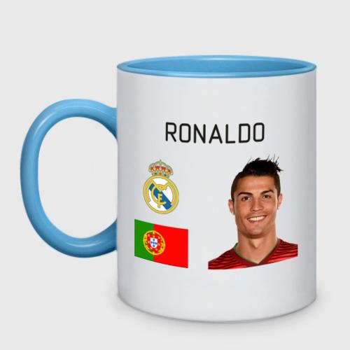 Кружка двухцветная  Фото 01, Роналдо