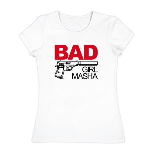 Женская футболка хлопок  Фото 01, Маша, плохой, парень