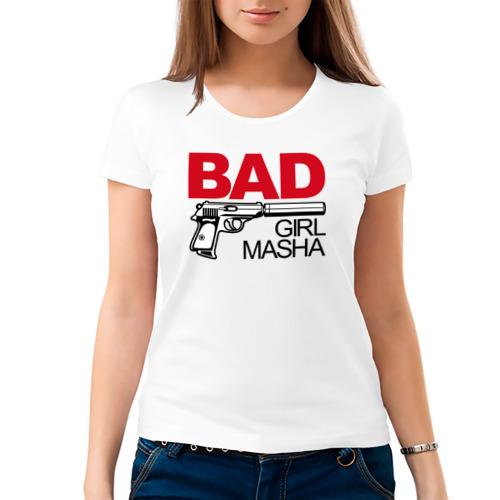 Женская футболка хлопок  Фото 03, Маша, плохой, парень