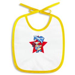 Моряк с флагом ВМФ