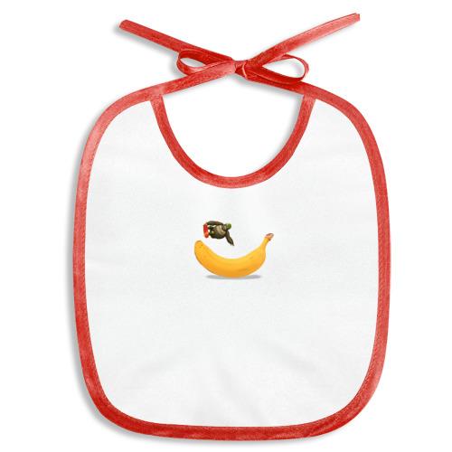 Слюнявчик  Фото 01, Прыжок на банане