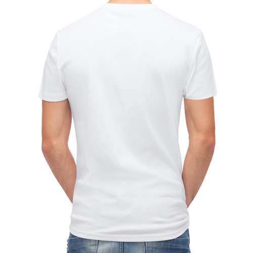 Мужская футболка полусинтетическая  Фото 02, Слон с ромашкой