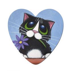 Котик с цветком