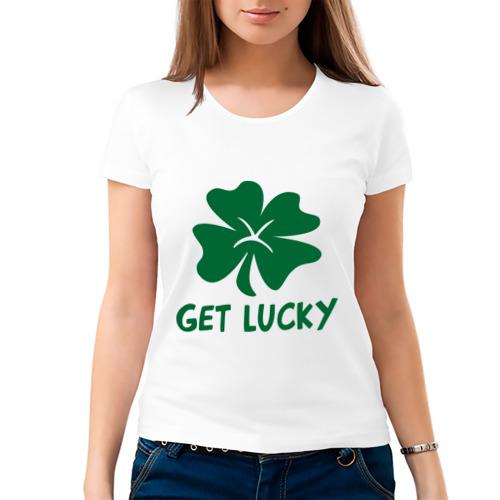 Женская футболка хлопок  Фото 03, Get lucky