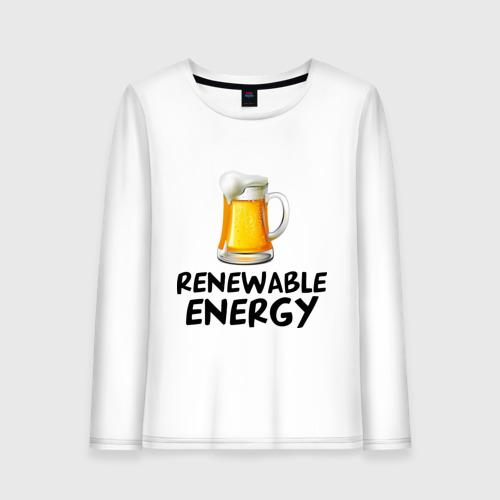 Женский лонгслив хлопок  Фото 01, Renewable energy