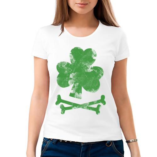 Женская футболка хлопок  Фото 03, Клевер