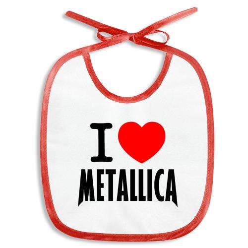 Слюнявчик  Фото 01, I love Metallica