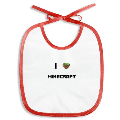 Слюнявчик  Фото 01, Minecraft сердце