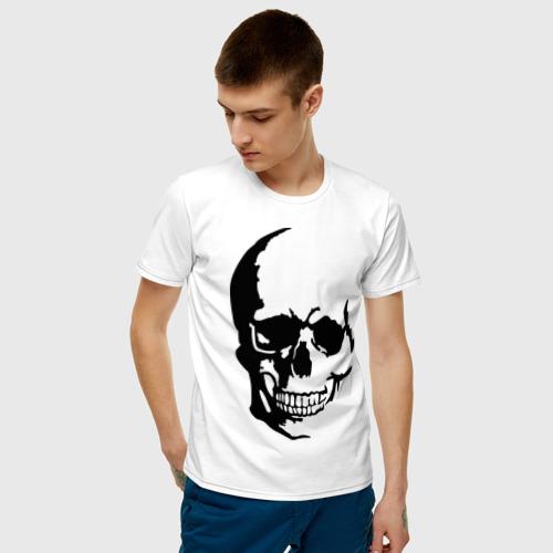 Мужская футболка хлопок Череп с тенью Фото 01