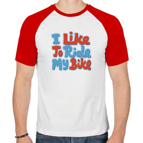 Мужская футболка реглан  Фото 01, Люблю гонять на велике