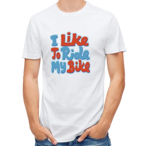 Мужская футболка полусинтетическая  Фото 01, Люблю гонять на велике