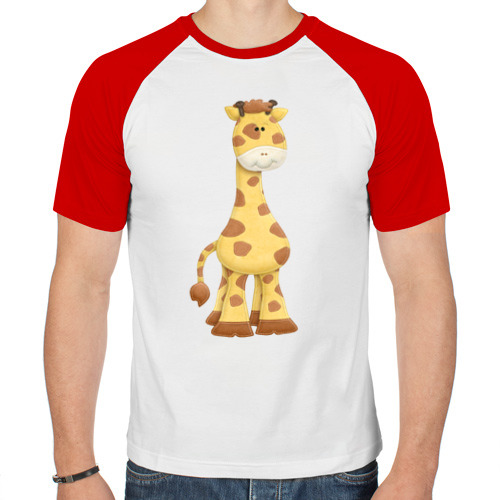 Мужская футболка реглан  Фото 01, Жираф